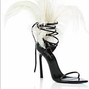 Saint Laurent Shoes - SAINT LAURENT Talitha Leather Sandals